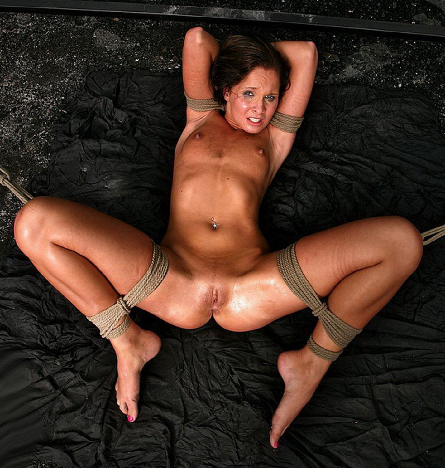 Anally Drilled With Hands Tied Behind Her Back